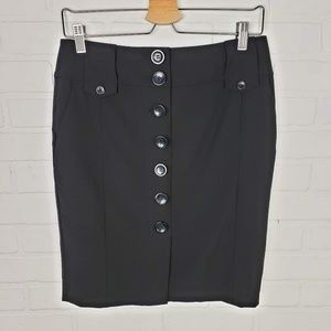 Ann Taylor Button Front Skirt